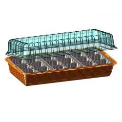 Микропарник на подоконник с 3-мя вставками 57*18*12