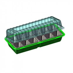 Мини-парник на подоконник 12 ячеек, зеленый