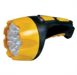 Фонарь Ultra Flash LED 3818 7+8 LED черн/желтый аккумулятор.AKKU PROFI