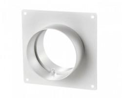 Соединитель для круглых каналов с пластиной 252Р (125мм)