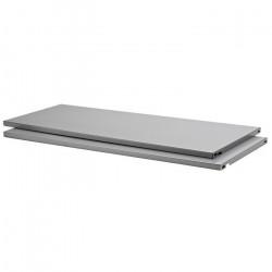 Полка металлическая 800*350мм серебристый /2 шт/