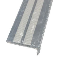 Порог угловой антискользящий самокл. 0,91м черн/серый Ziber