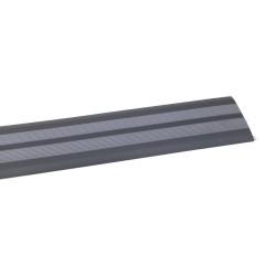 Порог прямой антискользящий самокл. 0,91м черн/серый Ziber