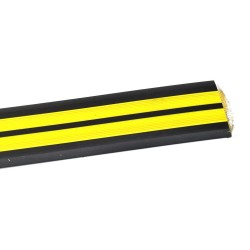 Порог прямой антискользящий самокл. 0,91м черн/желтый Ziber