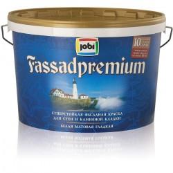 Краска JOBI R10 10л FASSADPREMIUM акриловая фасадная