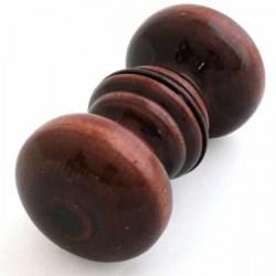 Ручка -кнопка 1-0693 дерево темная