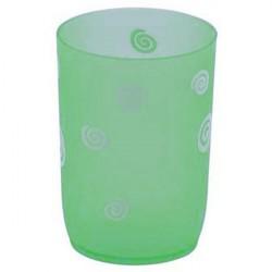 Стакан для ванной комнаты Спираль, зеленый, пластик SWTP-0007G