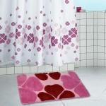 Коврик для ванной 60*100см Виолетта розовый HJ-T1124 4540