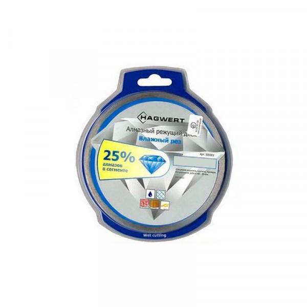 Фото - диск алмазный 180мм*22,23/25,4мм мокрый рез hagwert 500004 диск отрезной алмазный hagwert 500010 180 мм