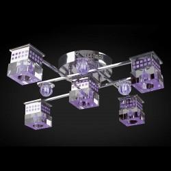 Люстра Геометрия 8231/4+1 CR LED Y G4 5*20Вт пульт