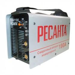 Инвертор сварочный Ресанта САИ 190 (190 А, электрод 2-5мм, ПВ=70%, мощ=5500ватт, Uв=180-240 в) 65/2