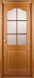 Полотно дверное Капричеза ДО 600*2000 со стеклом, дуб