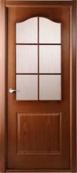 Полотно дверное Капричеза ДО 600*2000 со стеклом, орех