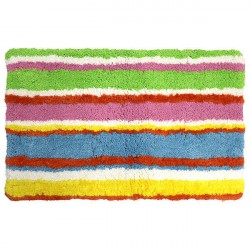 Коврик для ванной комнаты 50*80см Summer stripes микрофибра ID