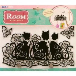 Стикер 0801 Кошки двойной крючок