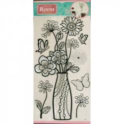 Стикер 8902 Ваза с цветами