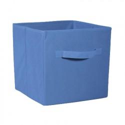 Коробка стеллажная на молнии 310*310*310мм Синий