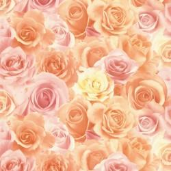 Обои 714-35 Палитра флизелин 1,06*10м цветы, серо-розовый