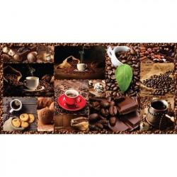 Панель ПВХ 0,96*0,485*0,002 кафельная плитка 386 Кофе