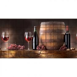Панель ПВХ 0,96*0,485*0,002 кафельная плитка 383 Вино