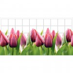 Панель ПВХ 0,96*0,485*0,002 кафельная плитка Тюльпаны