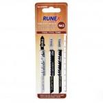 Набор пилок для лобзика 3шт по дереву и пластику №3 RUNNEX  555809