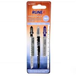 Набор пилок для лобзика 3шт по дереву и пластику №5 Runex 555811