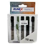 Набор пилок для лобзика 10шт по дереву и металлу Т-SET-1 Runex 555805