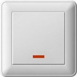 Выключатель 1кл Вессен 59 с/у с подсветкой белый VS116-153-18