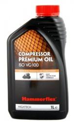 Масло компрессорное Hammerflex  501-012 компрессорное 1л, ISO VG-100