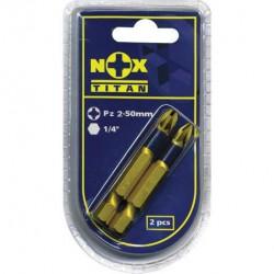 Бита PZ2 50мм (2шт) NOX TITAN 556632