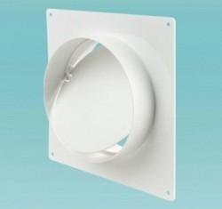 Соединитель для круглых каналов с клапаном и с пластиной 2521Р (125мм)