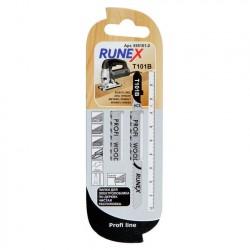Набор пилок для лобзика 2шт по дереву Т101В 100*75мм RUNEX 555101-2