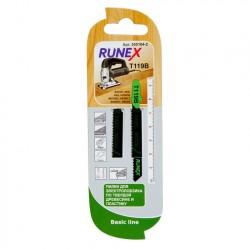 Набор пилок для лобзика 2шт по дереву T119B 75*50мм RUNEX 555104-2