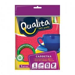 Салфета для уборки Qualita из микрофибры универсальная