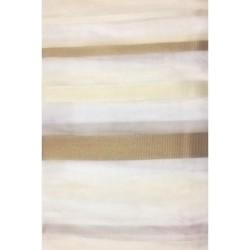 Тюль Полоса вертикальная 00174/004 3,0*2,5, на тесьме белый, капучино