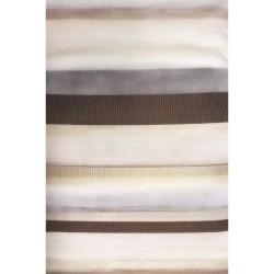 Тюль Полоса вертикальная на тесьме 300*250 (YK00174); Белый, венге (005)
