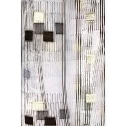 Тюль Полоса вертикальная 60038/001 4,0*2,5м, на тесьме венге