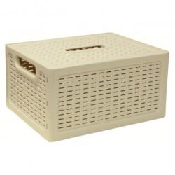 Ящик РОТАНГ с крышкой 370х280х190мм белый
