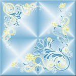 Плитка потолочная Баллада 2/5 голубой/золото 8шт