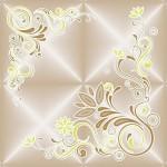 Плитка потолочная Баллада 4/5 бежевый/золото 8шт