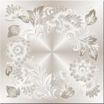 Плитка потолочная Букет 1, серый 8шт