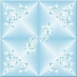 Плитка потолочная Лаванда 2 голубой 8шт