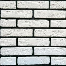 Камень интерьерный Кирпич Антик №6 белый
