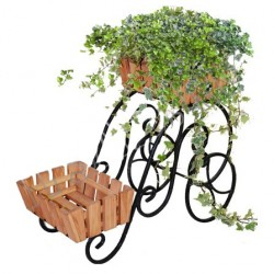 Подставка на два цветка 34*42*63см дерево, металл 59-402