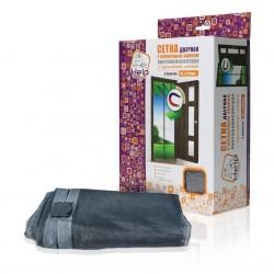Сетка-штора на дверь HELP противомоскитная с магнитным замком с  крепежной лентой 45*210см /2шт. в у