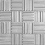 Плитка тротуарная Паркет 30*30 серый /А/