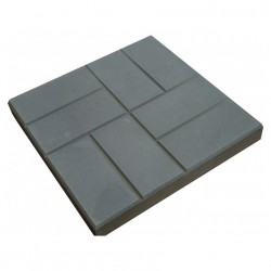 Плитка тротуарная 8 кирпичей 400*400*50 серая (А)