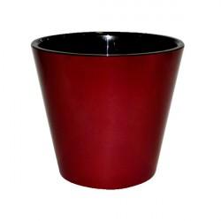 Горшок для цветов Фиджи D23см 5л бордовый