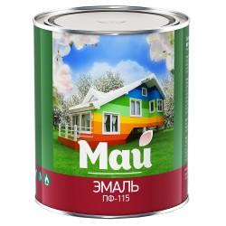 Эмаль МАЙ ПФ-115 0,8кг белая /Ярославль/